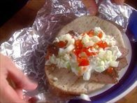 Get this all-star, easy-to-follow Gyro Meat with Tzatziki Sauce recipe from Alton Brown