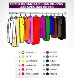 Color Coded Closet, Color Coordinated Closet, Closet Colors, Organizar Closet, Personal Organizer, Clothing Hacks, Home Hacks, Closet Organization, My Room