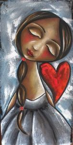 """Girl with heart"""