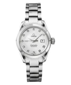 Omega Ladies Sea-Master Aquaterra with Mother of Pearl and Diamond Dial