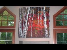 Tanja Bell How to Paint Birch Forest Acrylic Painting Landscape Palette Knife Trees - YouTube