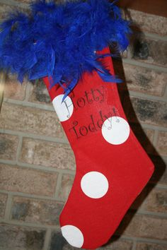 A Hotty Toddy Ole Miss stocking would look great on your mantle this season!