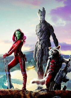 """Marvel's """"Guardians of the Galaxy"""" - new poster art - Looks like Elphaba flew off the handle."""