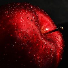 Apple with water droplets Color Explosion, Fruits Images, Fruit Photography, Bubble Photography, Fruit Painting, Water Art, Realistic Paintings, Water Droplets, Red Aesthetic