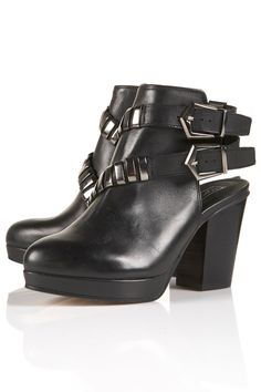 I own these vampy bitches, Actor buckle cut-out boots in black £95 (Topshop)
