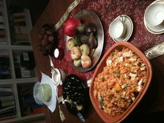 Teamcooking Arabic Night Paella, Pomegranate, Grains, Seeds, Night, Ethnic Recipes, Food, Granada, Meal