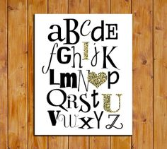 ABC I Love You Nursery Alphabet Printable Art Print by dodidoodles, $5.00