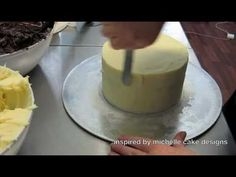 how to ganache a cake with straight sides Part 2 of 3 Inspired by Michelle Cake Designs - YouTube