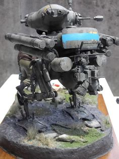 """GANS the Crybaby"" By tano-kuma tano くま WAVE Ma.K. 1/20 scale SK602 Gans.  #Ma_K #Maschinen_Krieger #diorama"