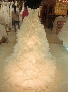Sweetheart ruffled wedding dressesorganza wedding by Bigday1958