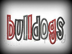 Bulldogs Cheri Embroidery Applique Design by justsewpretty on Etsy