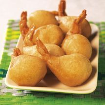 Shrimp tails in donut, cream of shellfish by A fan recipe to find in the category Fish on www.espace-recett …, from Thermomix®. Shrimp Fritters, Mauritian Food, Snack Recipes, Cooking Recipes, Exotic Food, International Recipes, Easy Cooking, Asian Recipes, Love Food