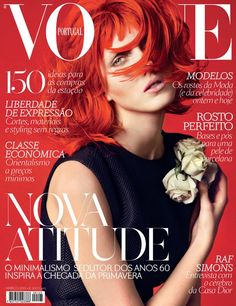 Iris Egbers Flaunts Red Hair for Vogue Portugal's March 2013 Cover   Fashion Gone Rogue: The Latest in Editorials and Campaigns