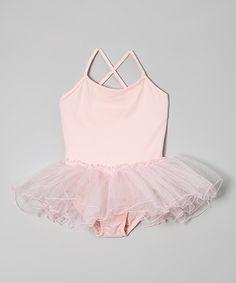 This Light Pink Skirted Leotard - Toddler & Girls is perfect! #zulilyfinds