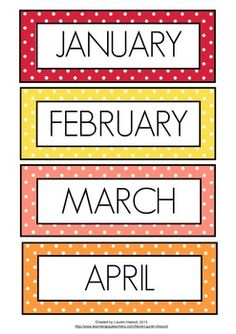 Months of the Year Printable.