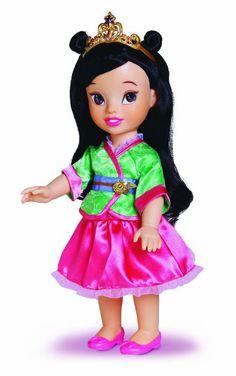 Amazon.com: My First Disney Princess Disney Basic Toddler Doll - Mulan: Toys & Games