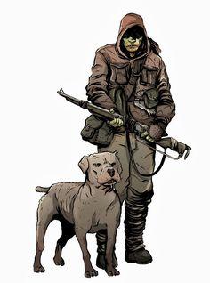 """Trogen"", Mutant Year Zero - RPG - Free League - art by Reine Rosenberg"