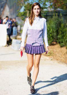 Purple shirtdress