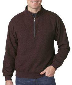 Gildan Adult Heavy BlendVintage 1/4-Zip Cadet Collar Sweatshirt 18800 Russet