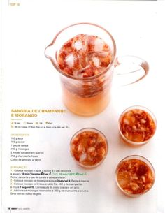 Revista Bimby Janeiro 2015 Fancy Drinks, Sangria Recipes, Happy Foods, What To Cook, Food Inspiration, Cooking Tips, Food And Drink, Yummy Food, Favorite Recipes