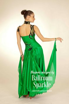 Emerald green ballroom gown designed by Ballroom Sparkle #ballroom #ballroomdance #ballroomdress #ballroomfashion #ballroomsparkle  #dance #dancefashion #dancelife #dancer #dancesport #dancing  #latin #partners  #smooth Ballroom Gowns, Ballroom Dance, Dance Fashion, Dance Dresses, Designer Dresses, Special Occasion, Dancer, Sparkle, Couture