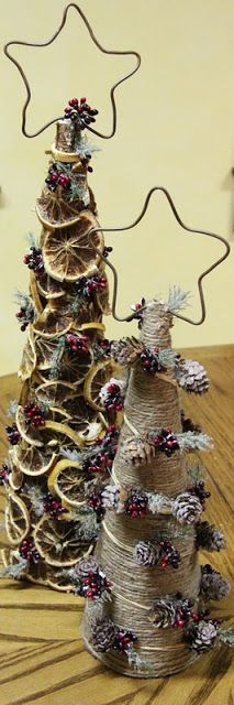 Making rustic Christmas Trees - tutorial
