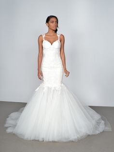 Show stopping wedding dress - you have to see the back too! See more on bridalmusings.com