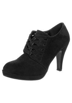 Anna Field Laceup heels black
