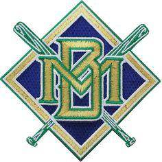 Milwaukee Brewers Cross Bats 90's Jersey Logo Patch