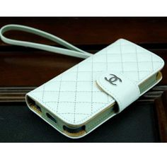 Coco Chanel iPhone 5 Cover Wallet White - Free Shipping Luxury Cases