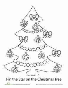 During this festive holiday season, take the time to play some family games. Invite your little ones to help you color this Christmas tree and stars, and you'll be ready to play Pin the Star on the Christmas Tree, a fun holiday version of a childhood classic!