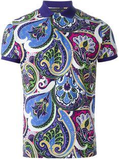 Etro Paisley Print Polo Shirt - Cuccuini - Farfetch.com