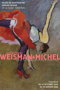 Affiche collection Weisman & Michel BD Pierre Bonnard, Renoir, Eugene Grasset, More Words, Michel, Toulouse, Collection, Montmartre Paris, Pastels