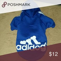 Dog's hoodies New X  small  mesured:11× 8.5 inches  colors  (red blue  light blue gray black ) also I have one small gray (12× 17) and one midium black( 13 × 19) Adidas Other