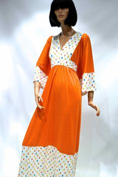 Vtg 1970s ORANGE folk BoHo maxi dress    by VicAndBertieVintage Anos 70,  Casamento, 5b5de68344