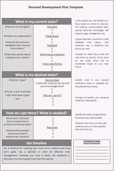 personal development plan assignment pdf