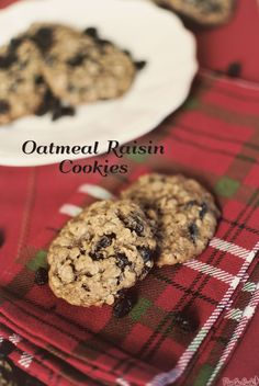 Oatmeal Raisin cookies  These were good, used whole wheat flour  and maple syrup (no brown sugar)