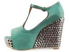 Jeffrey Campbell Fox Tick wedges  I want this!!!