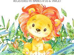 Baby Girl Nursery Decor, Safari Nursery, Animal Nursery, Nursery Prints, Nursery Sets, Nursery Canvas, Elephant Nursery, Deco Jungle, Jungle Print