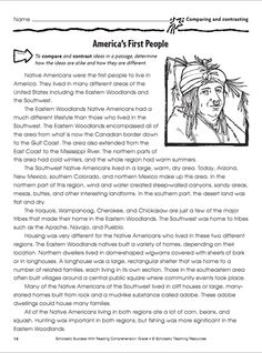 Does your child have a ton of questions about the history of Thanksgiving? Work with your child on developing strong reading skills with this printable worksheet on America's First People that focuses on comparing and contrasting.