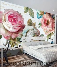 Vintage Bamboo Flower Idcwp 000060 Wallpaper Wall Decals Art Print Mural Home Decor Gift Pinterest And Walls