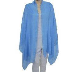 Amazon.com: Blue Pashmina Cashmere Wraps Handcrafted in India 80 x 28 inches: Clothing