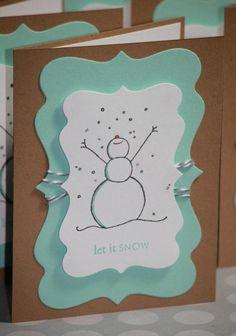 Let it snow Weihnachtskarte