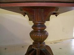 Carved pedestal top Dining Table With Drawers, Pedestal Dining Table, Carving, Antiques, Top, Furniture, Home Decor, Antiquities, Antique