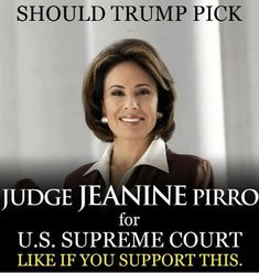 But what about that alledged incident from an unknown source at a forgotten time when it is said that she may have kissed a boy in pre k against his will? Jeanine Pirro, Trump Is My President, Political Views, Political Beliefs, Trump Train, Susa, Conservative Politics, God Bless America, Before Us