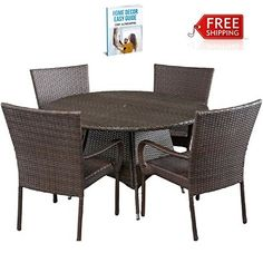 Patio Furniture Dining Set Outdoor Table Chair Set Round Modern Gadern Yard  eBook by AllTim3Shopping * This is an Amazon Associate's Pin. Item can be found on Amazon website by clicking the image.