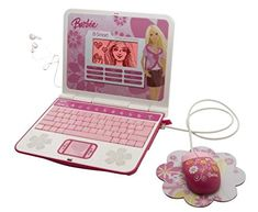 Barbie B Smart Laptop Review: A Great Option for Little Princesses * Techsmartest.com 100 Games, Trivia Games, High End Laptop, Typing Skills, Kids Gadgets, Spanish Activities, Extended Play, Laptop Computers, Get The Job