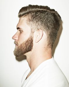 Cool 7 Bryce Harper Haircut Style for Men's Looks More Handsome Bryce Harper Haircut, Growing Facial Hair, Hair And Beard Styles, Hair Styles, Beard Boy, Dope Hairstyles, Hairstyle Men, Ginger Beard, Haircuts For Men