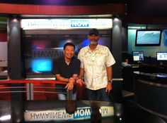Guy Hagi Hawaii's Surfing weather man with Jack McCoy!  Stoked about A Deeper Shade of Blue