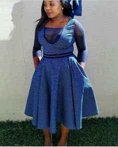 Modern Lesotho Seshoeshoe Designs 2019 - fashionist now African Print Dresses, African Print Fashion, Africa Fashion, African Fashion Dresses, African Attire, African Wear, African Dress, Ghanaian Fashion, African Prints